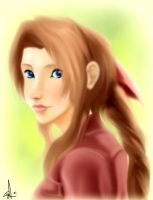 just aerith by emarcellus