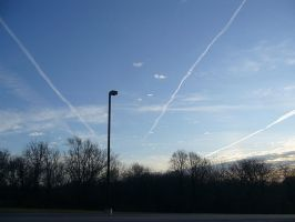 Contrails in a Winter Sky by dull-stock