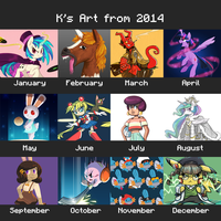 2014 Art Summary by Radioactive-K