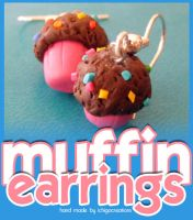 muffin earrings by ichigocreations