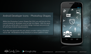 Android Developer Icons - Photoshop Shapes by kahil