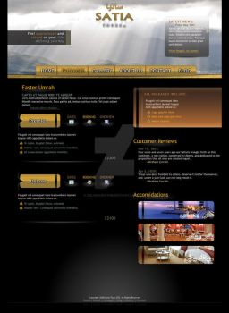 Satia Tours web 2.0 interface by Delinquentme