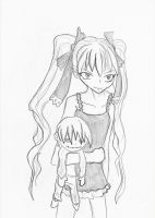 Girl with a puppet by Magibu