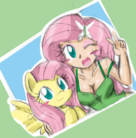 Two Flutters by DANMAKUMAN