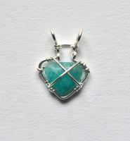 Amazonite pendant -front by lamorth-the-seeker