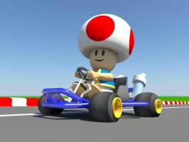 Toad from Mario Kart 64 by MickeyPeanut