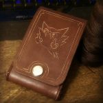 Leather iphone belt pouch ft. Haunter by TheAnti-Lily