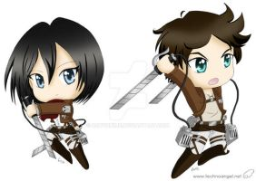 Chibi Attack on Titan by robynhime