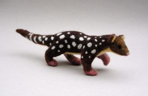 Needlefelted Tiger Quoll by creturfetur