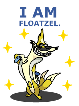 Shiny Floatzel + I Am Weasel by shawarmachine