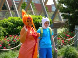 Finn and Flame Princess - Colossalcon 2013. by EndOfGreatness