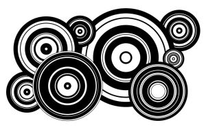 Black and White Circles by bluesonic52000