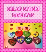 Sailor Senshi Magnets by querulousArtisan