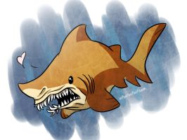 shark week day 1- SAND TIGER by Ununununium