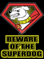 Beware of Krypto t-shirt by Vic-Neko