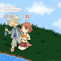 Molly x Toby - Fishing by pwnapple14