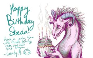 Stacia b-day card by genusarcturus