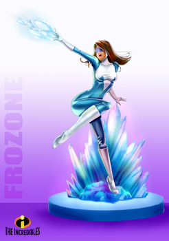 Disney The Incredible-Frozone by kendaya