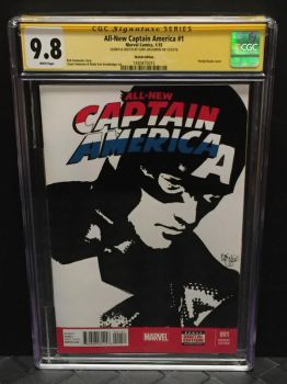 Captain America CGC NM/MINT Sketch Cover by ChrisMcJunkin