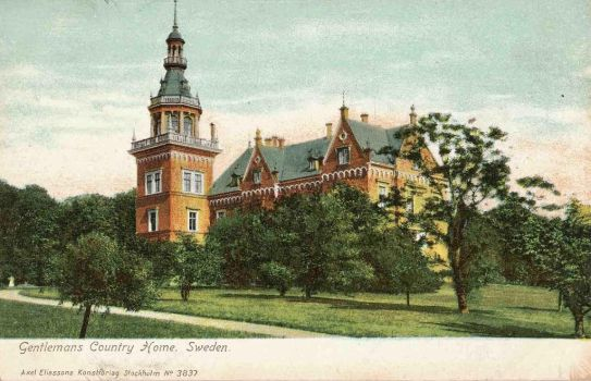 Vintage European Postcards - Country Manor, Scania by Yesterdays-Paper