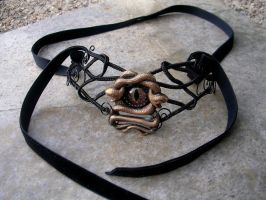 Gothic Steampunk - Medusa's Sight Choker 2 by LadyPirotessa