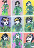 Goth Girls as Kyoshi Warriors by LEXLOTHOR