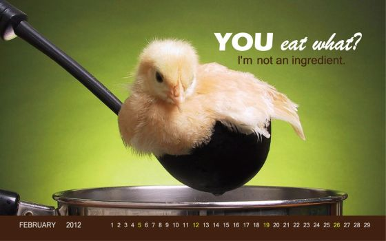 vegan wall paper for Feb by vegtomato