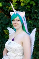 Princess Celestia Portrai by Miru-sama