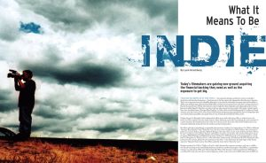 magazine spread mock-up by dextryana