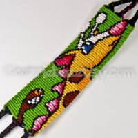 Girafarig 1.5 inch Friendship Bracelet by CarrieBea