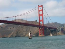 Golden Gate, the Pirate Ship by saba-do
