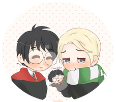 Chibi Drarry - Puppets by Cremebunny