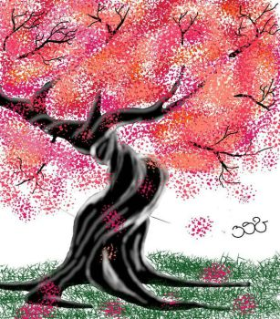 tree pink by Erickash