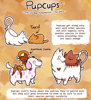 Pupcup pt 2 .Species reference. by scribblin