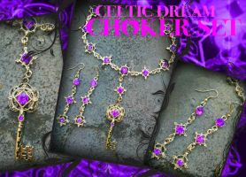 Celtic Dream Choker Set by ArtByStarlaMoore