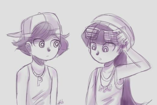 Blossom and Buttercup Hip-hop (Bleedman-style) by snitchpogi12
