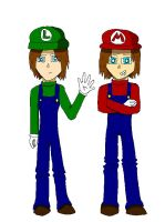 Mario and Luigi -Manga Style- by CrazyBatLady
