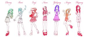 Girl Group Apink by Labapo999