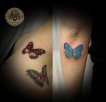 Color Butterflies by 2Face-Tattoo