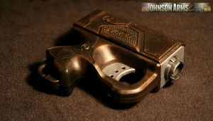 Steampunk NERF Reflex by JohnsonArms