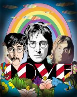 John Lennon vector collage by choffman36