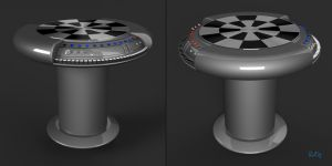 Star Wars Dejarik Holochess Table Blender 3D Model by PixelOz