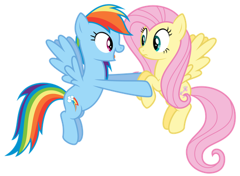 Dashie and Fluttershy by thatguy1945