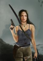 A Painting of Lara Croft by jht888