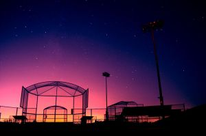 Softball Cage by roarbinson