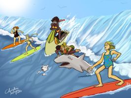 Skin Horse Surfin' Safari by TheDelphina