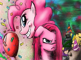 Pinkie and Pinkamena REMAKE by RoboCop17