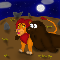 Simba and Kynno friendly. by valentinfrench