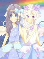 Violetta and Valeria [Collab] by Miikyo