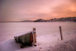 Lake Paijanne in winter time by Karelen